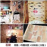 Mauerziegel Tapete Retro Tapete selbstklebender Ziegelkopf nostalgischer einfacher Stein