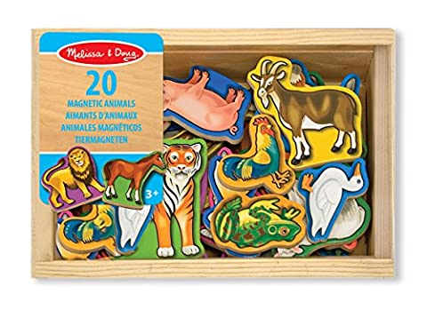 Melissa & Doug - 10475 - 20 Aimants Animaux En Bois - Animali