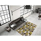 Kayoom_Wohnzimmer Teppiche_mit attraktiven Farben und Muster_Now! 600 Multi / Gold 160cm x 230cm, Teppich Größe:160cm x 230cm, Teppich Farbe:Multi / Gold