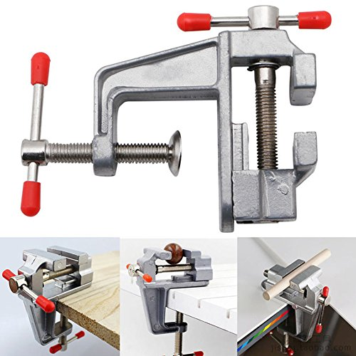 ShenTan New Aluminum Mini Small Jewelers Hobby Clamp On Table Bench Vise Tool Vice (Portable Workbench)
