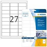 Herma 4511 Namensetiketten ablösbar 540 Stück auf 20 Blatt DIN