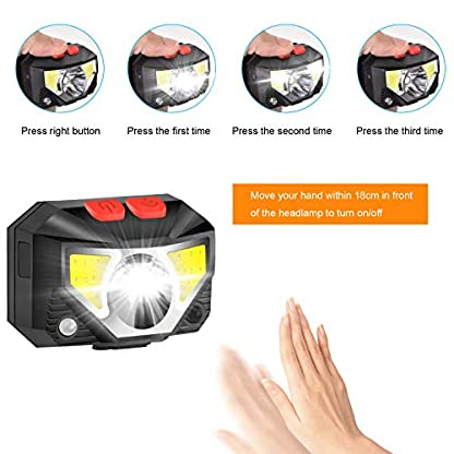 ulocool LED Head Torch, USB Headlamp, Ultra Bright 800 Lumens Rechargeable COB LED Headlight, 70g, with IPX45 Waterproof for Running, Camping, Hiking, Hunting, Climbing, Kids 5