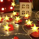 Stringa di Luci, Catena Luminosa, MMTX 30 LED Stelle, 3.2 Metri, Decorativa da Interni e Esterni, anche per Festa, Giardino, Natale, Halloween, Matrimonio [Classe di efficienza energetica A++]