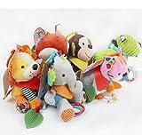 SunnyGod EIN schönes Plüsch Geschenk Tierfingerpuppen weiches Baby pädagogisches Handspielzeug (Welpe) (Farbe : Dog, Größe : 18cm)
