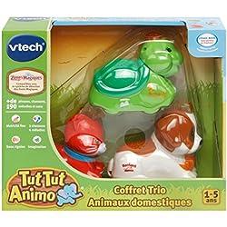 VTech- Tut Animo-Coffret Trio Domestique-Chat + Tortue + Chiot Montagnard, 242875