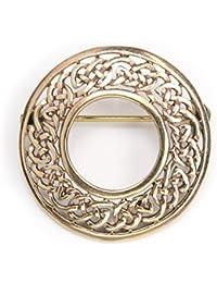 belle broche en bronze bijoux celtiques, longueur: 3 cm