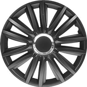 Jeu d'enjoliveurs Intenso Pro 13-inch noir + anneau chromé
