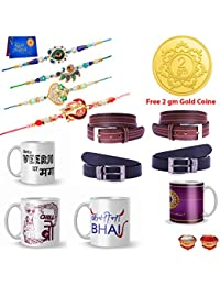 Dreamcart Rakhi Combo of 12 Rakhi Set for Brother with Greeting Card Roli Chawal