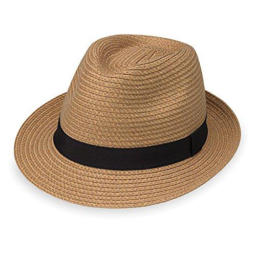 Wallaroo Hat Company Herren Justin-Hut, raffiniert, klassisch, Trilby - Beige - Medium/Large (Hüte Männer Justin Für)