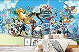 Pokémon - Papier peint mural humoristique - Motif dessin animé japonais (H)300*(W)210cm a...