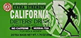3 BOXES CALIFORNIA DIETERS' DRINK EXTRA STRENTH TEA 1.76 OZ. by Evergreen leaves