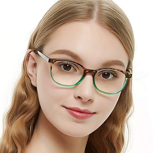 OCCI CHIARI Optische Brillen Rahmen Green Brille Optische Gläser Vintage Metall Oval Brille Leichte Brillen Full Damen ...