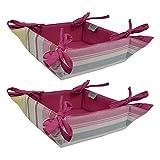 ELAN Pink Stripe Fruit Baskets 20 X 20 X...