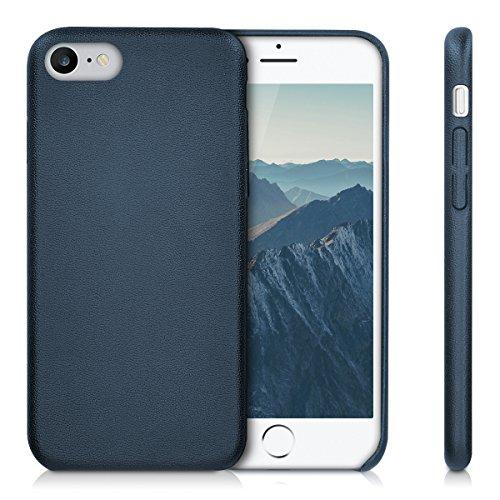 kwmobile Cover per Apple iPhone 7 / 8 - Custodia protettiva matt in similpelle - Backcover Case per cellulare blu scuro
