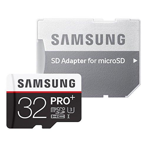 Samsung Speicherkarte MicroSDHC 32GB PRO Plus UHS-I Grade U3 Class 10, für Smartphones, Tablets und Action Cams, mit SD Adapter [Amazon Frustfreie Verpackung]