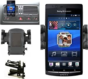 Mobilizers: In Car Air Vent Mount Holder Cradle Kit For All New Models Including Sony Ericsson Vivaz, Vivaz Pro, Xperia Arc, Xperia Arc S, Xperia Mini, Xperia Mini Pro, Xperia Neo, Xperia Play, Xperia Pro, Xperia Ray, Xperia X8, Xperia X10, Xperia X10 Mini, Xperia X10 Mini Pro, Spiro, Satio & Sony Xperia S, Xperia U