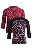 Vvoguish Pack of 2 Casual Tops-VV1241MRN...