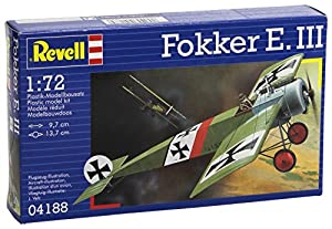 Revell Fokker E.III 1:72 Assembly kit Fixed-wing aircraft - maquetas de aeronaves (1:72, Assembly kit, Fixed-wing aircraft, Fokker E.III, Military aircraft, De plástico)