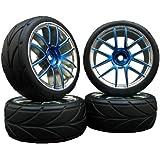 4x Onroad Reifen Felgen 1/10 Custom !! Design/Farbe wählbar