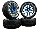 4x Onroad Reifen Felgen FR45 1/10 Custom !! Design/Farbe wählbar