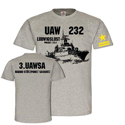 Copytec UAW 232 Ludwigslust Projekt 1331 3 UAWSA Marine Stützpunkt Saasnitz #25189, Größe:M, Farbe:Grau -