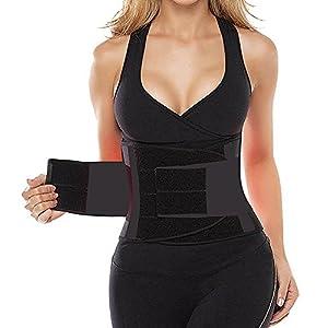 HLGO Damen & Männer Taille Justierbarer Taillen Gurt elastischer Übungs Taillen Gurt 5 Farbe, 4 Größe für Wahl