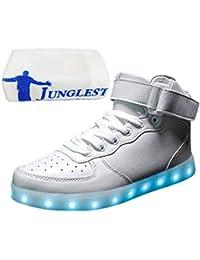 [Present:kleines Handtuch]Schwarz EU 38, Turnschuhe Schuhe weise 7 Damen JUNGLEST® Sneaker Aufladen Leuchtend Herren Farbe für Sport LED High-t