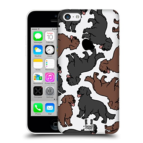 Head Case Designs Flat Coated Retriever Hunderassen Muster 11 Ruckseite Hülle für Apple iPhone 5c (Der Flat T-shirt, Head)
