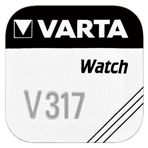 Varta V317 Siler de Oxyde (S) 1.55 V Batterie rechargeable pas – pas de piles rechargeables (Siler oxyde (S), 1,55 V, 8 mAh, argent, 5,8 mm, 5,8 mm)
