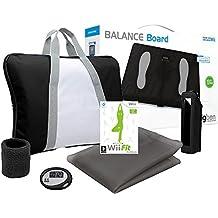 Fitness Board - Balance Board Für Nintendo Wii schwarz+Wii Fit Spiel + Trainings Pack(farbig sortiert)