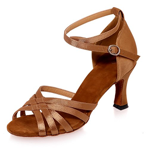 Las Sandalias Y Los Zapatos De Baile De Color L @ Yc Plus Pueden Ser De Tamaño Personalizado / Multicolor / Marrón Grande
