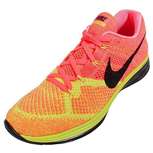 Nike Flyknit Lunar3, Chaussures de running entrainement homme Hot Lava/Black/Volt/Laser Orange