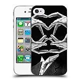 Head Case Designs Offizielle LouiJoverArt Herr Handy Man Schwarz Und Weiss Soft Gel Hülle für iPhone 4 / iPhone 4S