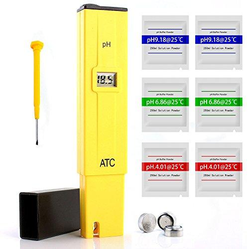 Neuftech pH-mètre digital LCD de poche Appareil de mesure du pH aquarium piscine eau laboratoire