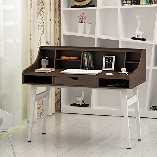 songmics computer desk dressing table study table made of mdf board and stable steel structure. Black Bedroom Furniture Sets. Home Design Ideas