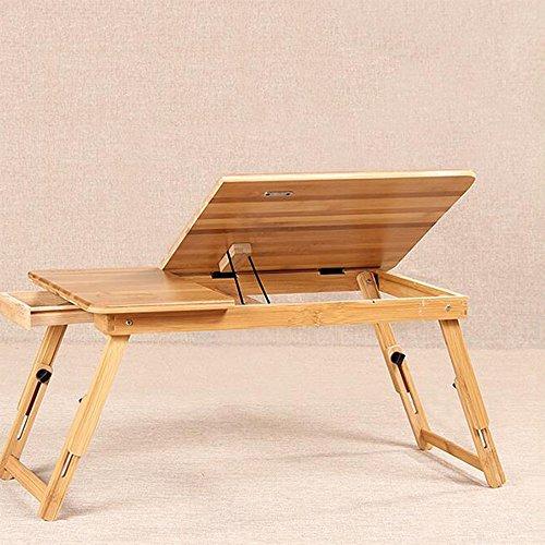 Computer Tisch] Portable Verstellbare Faltbare Notebook Tisch Klapp Computer Schreibtisch Bett Tablett Laptop Tischständer Für Bücher, Frühstück Im Bett Klapp Computer Schreibtisch Auf Dem Bett Notebook Computer Schreibtisch ( größe : L53W21 ) (Verstellbare Klapp-laptop-tisch)