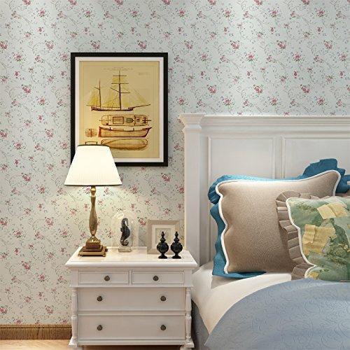Zhzhco Verdickung Pvc Selbstklebend Tapeten Tapeten Pastorale Kinderzimmer Wohnzimmer Hintergrundbild 45Cm*10M