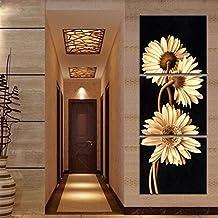 Auntwhale 3 Unids/lote Resumen Empalme Crisantemo Pintura Al Óleo de La Pared Pintura Al
