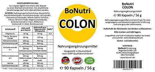 BoNutri Colon Qualität aus Deutschland 90 vegane Kapseln Ohne Magnesiumstearat Monatsbedarf