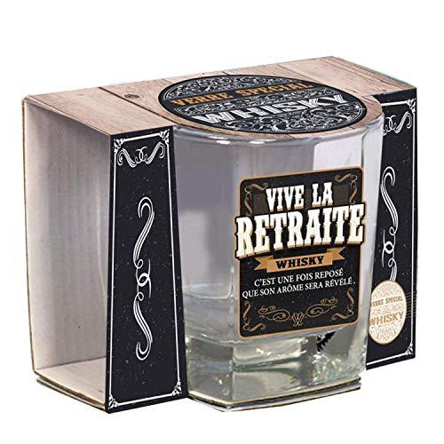 Le verre whisky Vive la Retraite