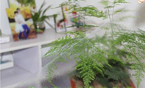 BLUELSS Neue Oval Transparent pvc soft Glas Kristall platte Tischdecke Tischsets wasserdicht Öl-proof wash-freien Tisch Tuch ein Gesicht Peeling 90 x 150 cm.
