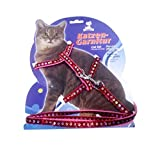 #4: Pets Empire Fancy Glitter-Pattern Cat Harness Leash, Adjustable H harness Nylon Strap Collar with Leash, Kitten Leash and Harness Set, For Small Cat and Pet 1 Set Color May Vary