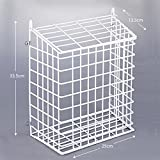Letter Box Cage And Basket Steel Mesh In White - FREE Door Fixings Included