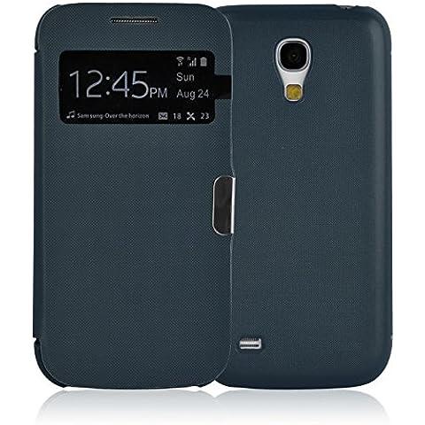 JAMMYLIZARD | Funda Smart View Para Samsung Galaxy S4 MINI Flip Cover Case Con Cierre Magnético, AZUL