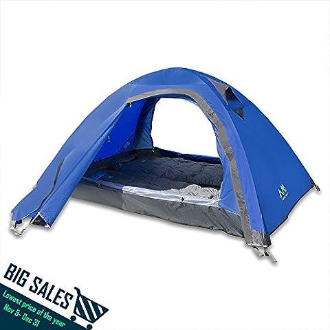 Arctic Monsoon Arrow Tent, Tienda de campaña para 1 o 2 Personas Peso Ligero (2 Personas-Azul)