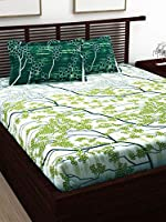 Story at Home Flat Double Bedding Set, Multi-Colour, 225 x 235 cm, CN2016, 3 Pieces