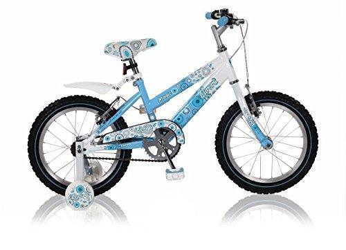 "16 16"" Zoll Fahrrad Bike Rad Kinderfahrrad Mädchenfahrrad Kinderrad Aurora BLAUWEISS"