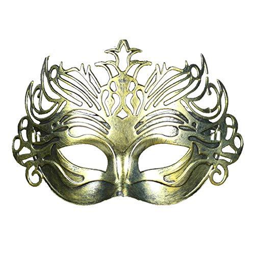 NUOKAI Masken-Mannmaske des antiken Maskenballs alte römische Kriegerkronenmaske, Gold