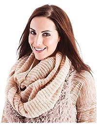 Ladies Beige Knitted Winter Snood