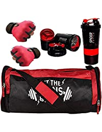 5 O' CLOCK SPORTS Premium Quality Sports Combo of Gains Bag Gym/Fitness Kit/Combo/Gym Accessories/Gym Kit/for Men and Women